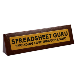 Desk Sign Spreadsheet Guru