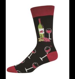 Mens Socks- Wine Scene