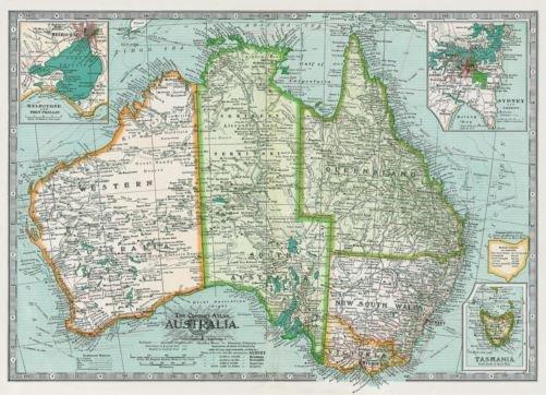 Australia Map Poster.Australia Map Poster Gift And Homewares Online Shop Based In