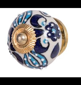 Blue Turquoise Ceramic Doorknob