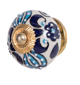 Doorknob - Blue Turquoise Ceramic