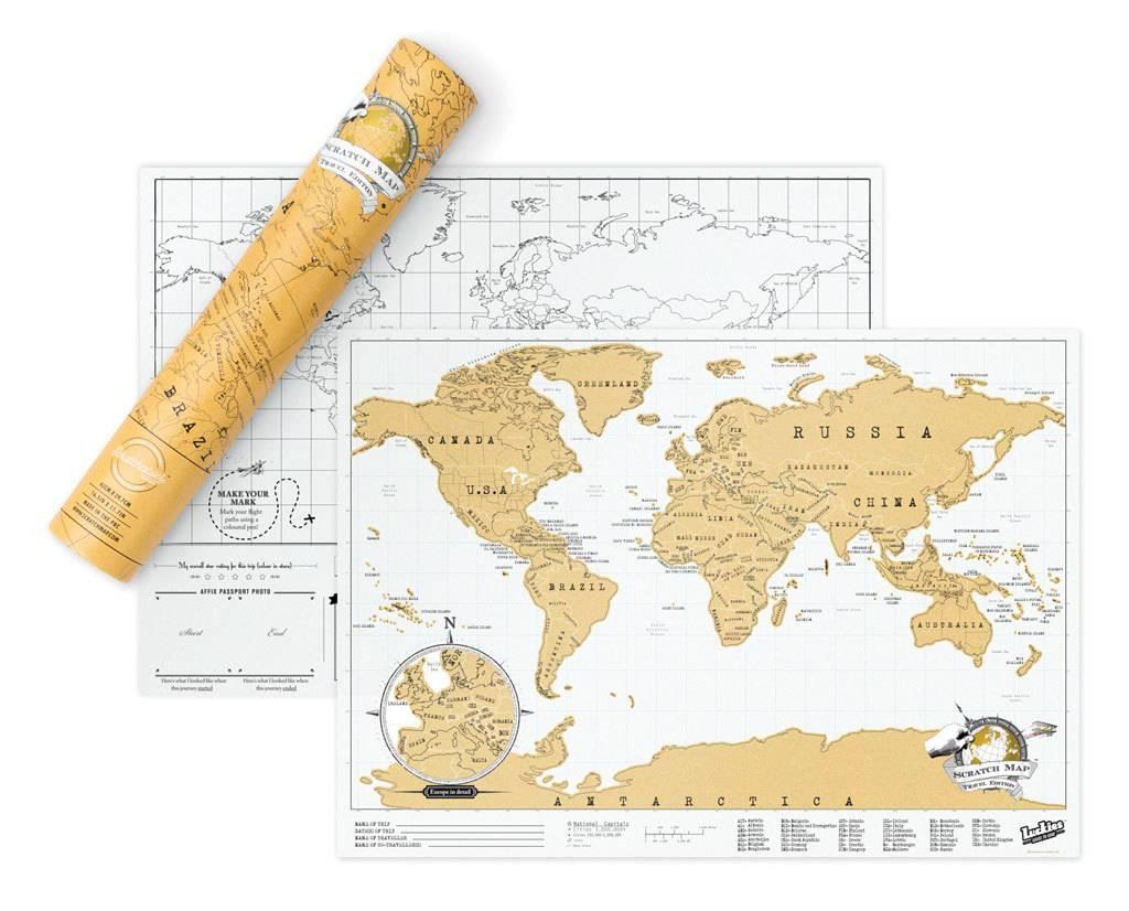Scratch Map- Original Travel Edition