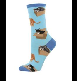 Socks Ladies Cat in A Box