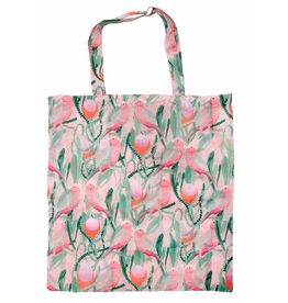 Australian Birds Foldable Shopper Bag/ Pink Galah