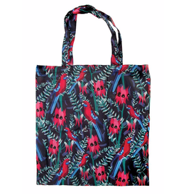 Australian Birds Foldable Shopper Bag/ Red Rosella
