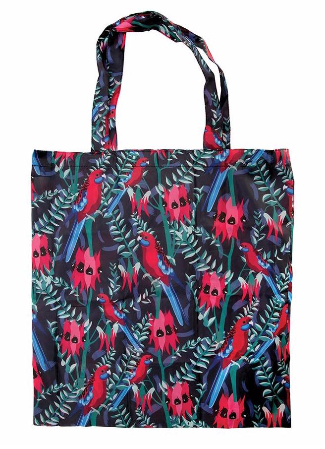 Australian Birds Foldable Shopper Bag/ Red Rosella
