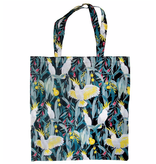 Australian Birds Foldable Shopper Bag/ White Cockatoo