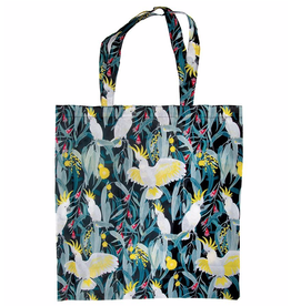 Australian Birds Foldable Shopper Bag/ White Cockatoo