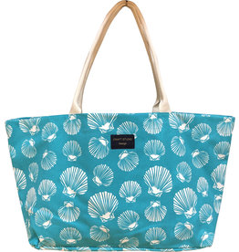 Extra Large Tote Bag Shell Sea Green