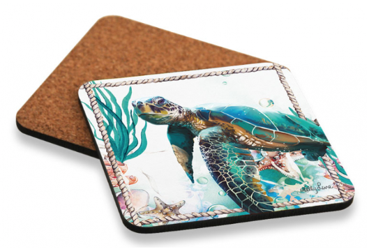 Coaster set of 6 Turtle OCEAN