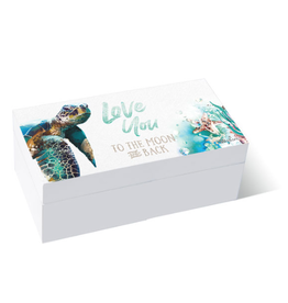 Box 10x20 Sea Turtle LOVE
