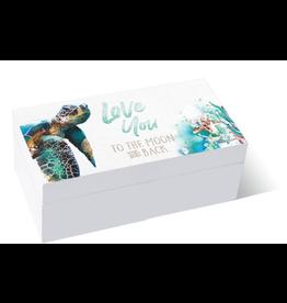 Wooden Box Turtle Love