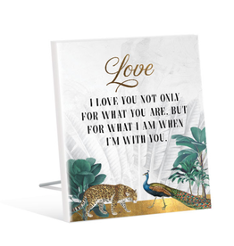 Sentiment Plaque 12x15 St Barts WITH YOU