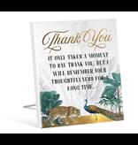 Sentiment Plaque 12x15 St Barts THANK YOU