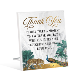 Sentiment Plaque 12x15 St Barts THANK YOU
