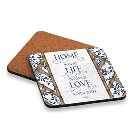 Coaster set of 6 Chippendale LOVE