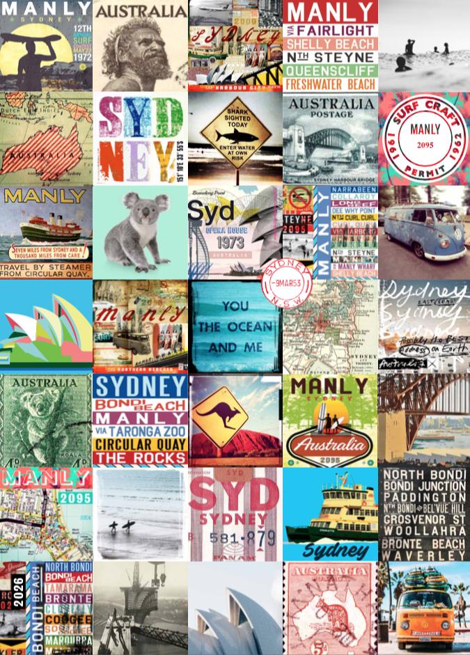 Vintage Sydney Teatowel