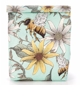 Resuseable Paper Lunch Bag- Bees