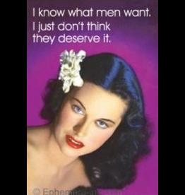 Fridge Magnet What Men Want