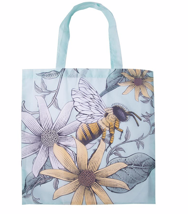Recycled Foldable Shopper -Bees
