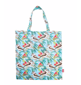 Australian Birds Foldable Shopper Bag/ Brown Kookaburra