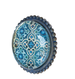 Doorknob Lapis Metal Glass