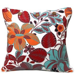 Hibiscus Rose Cushion Cover