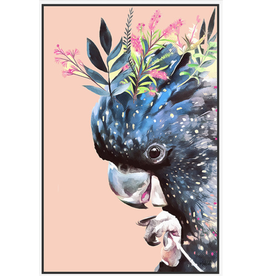 Floating Frame Floral Cockatoo