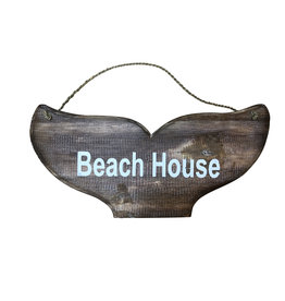 Wooden Sign - Whale Tail