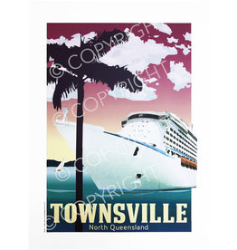 Townsville Poster Cruise Ship