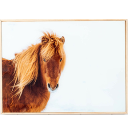 Glass Artwork Snow Pony
