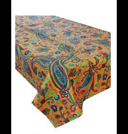 Paisley Burnt Orange Tablecloth