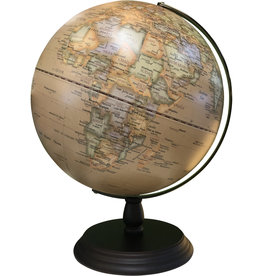 Globe Antique w Wood Base 30cm