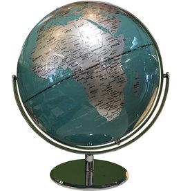 Globe 30 cm diameter - Teal on gimble
