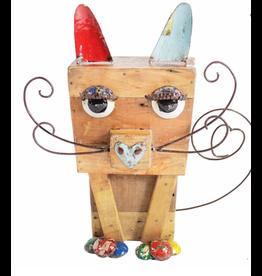 Wooden Edwina Cat