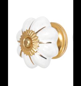 White & Gold Ceramic 4.5cm