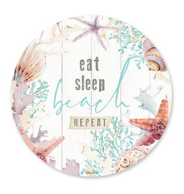 Placemat set with Starfish Round Design