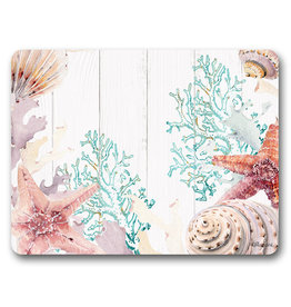 Placemat set with Starfish and Shells Design