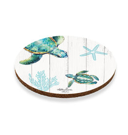 Coaster with Turtles and Coral Design