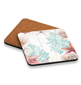 Coaster set with Coral Design