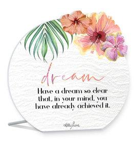 Dream Hibiscus Sentiment Plaque