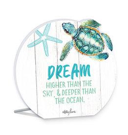 Dreams Turtle Round Sentiment Plaque