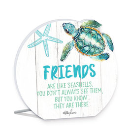 Friends Turtle Round Sentiment Plaque