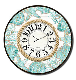 Large Clock with Reef Design