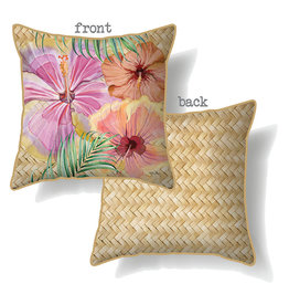Cushion with Hibiscus Design