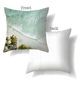 Cushion with Oasis Beach Design