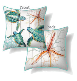 Cushion with Turtles Design