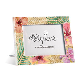 Photo Frame Hibiscus Floral