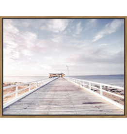 Framed Canvas - Jetty Sunsets