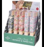 Reuseable Australian Birds Bamboo & Paper Fan